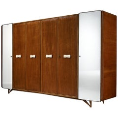 Italian Wardrobe in Mahogany and Alabaster