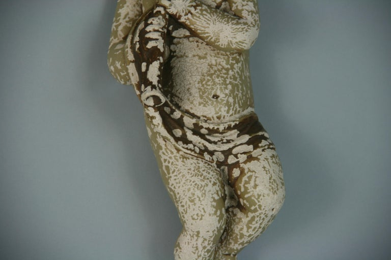 Italian Weathered Gesso Putto Sculpture For Sale 7
