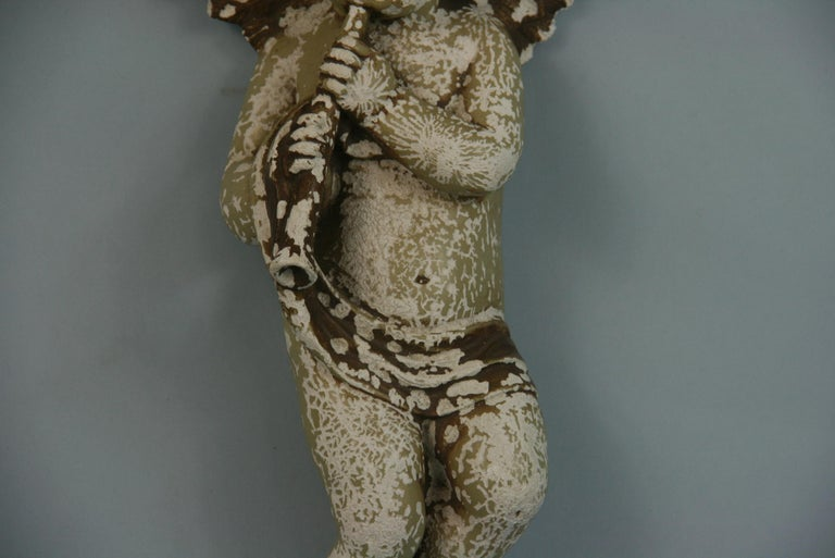 Italian Weathered Gesso Putto Sculpture For Sale 10