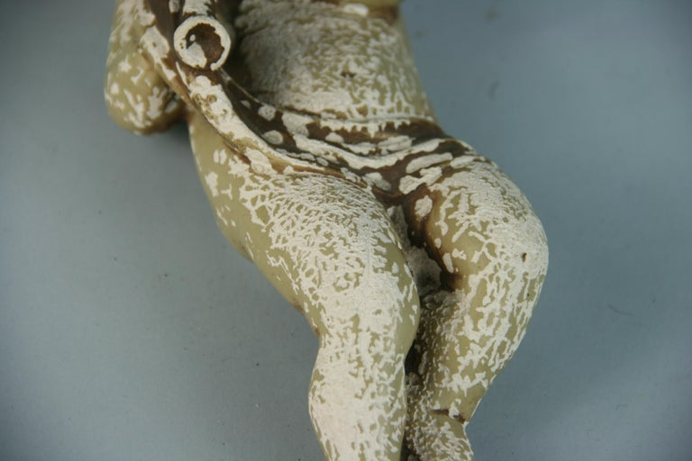 Italian Weathered Gesso Putto Sculpture For Sale 3