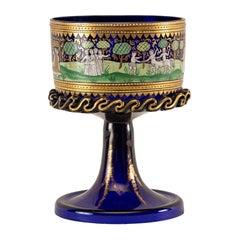 Italian Wedding Cup Murano Glass Venice, Late 19th Century Barovier Toso Painted