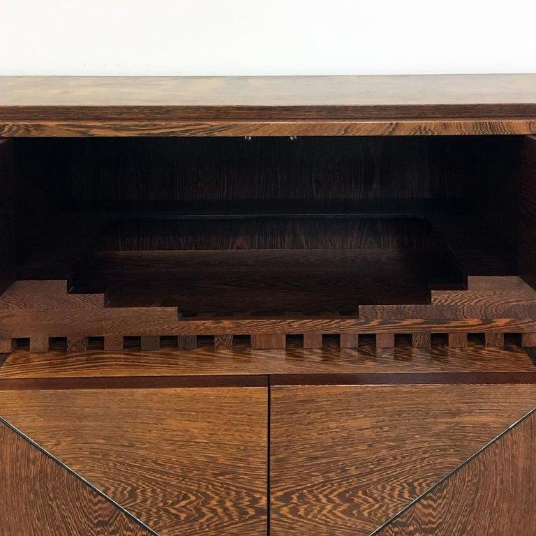 Italian Wengé Cabinet Micene by F. Meccani for Meccani Arredamenti, 1978 For Sale 4