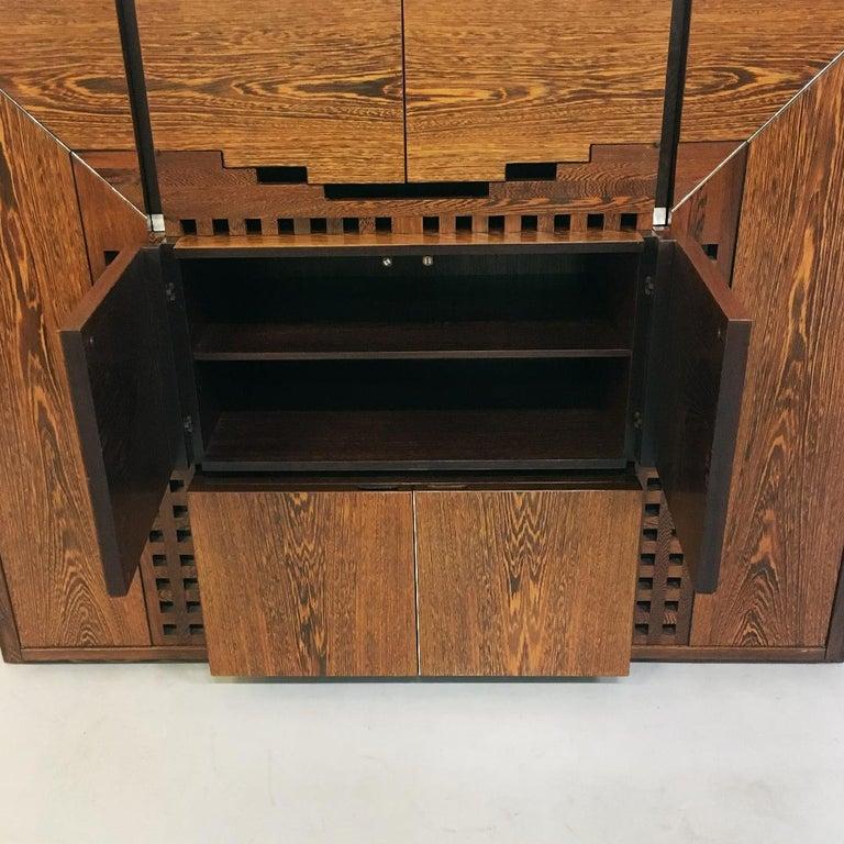 Italian Wengé Cabinet Micene by F. Meccani for Meccani Arredamenti, 1978 For Sale 6