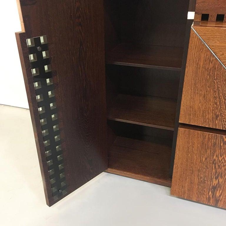 Italian Wengé Cabinet Micene by F. Meccani for Meccani Arredamenti, 1978 For Sale 9