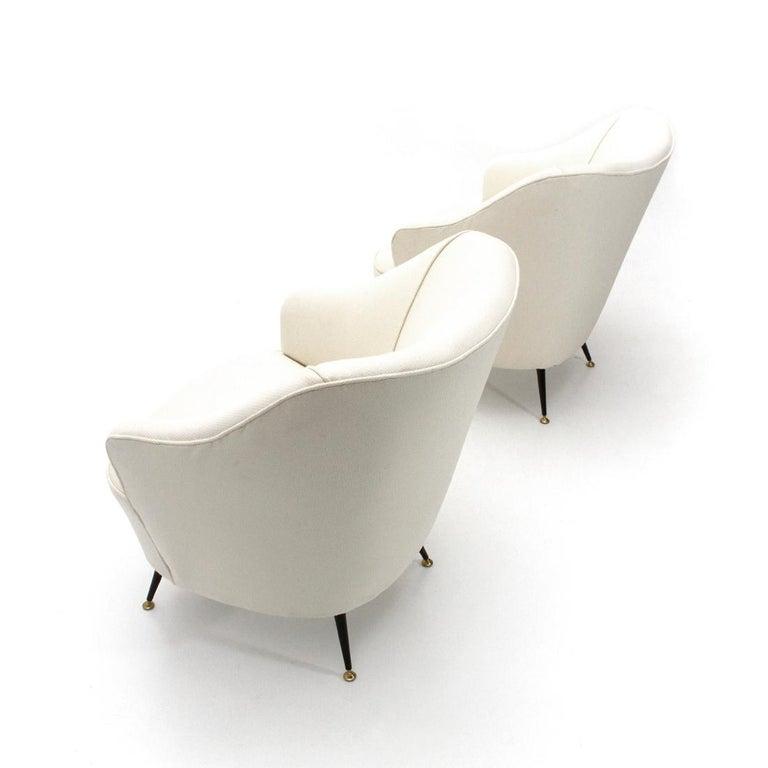 Italienische Weiße Sessel Set Der 1950er Jahre 2er Set Bei 1stdibs
