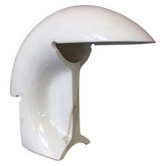 Italian White Carrara Marble Biagio Table Lamp by Tobia Scarpa for Flos, 1968