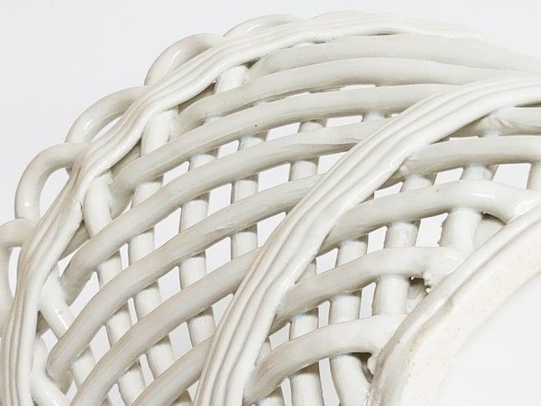 Glazed Italian White Ceramic Cachepot by Società Ceramica Italiana Laveno, 1950s For Sale