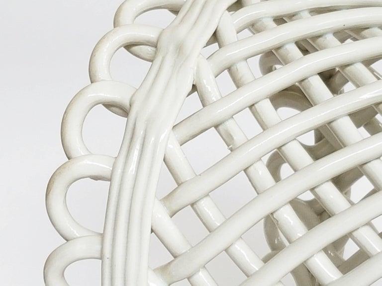 Italian White Ceramic Cachepot by Società Ceramica Italiana Laveno, 1950s In Good Condition For Sale In Varese, Lombardia