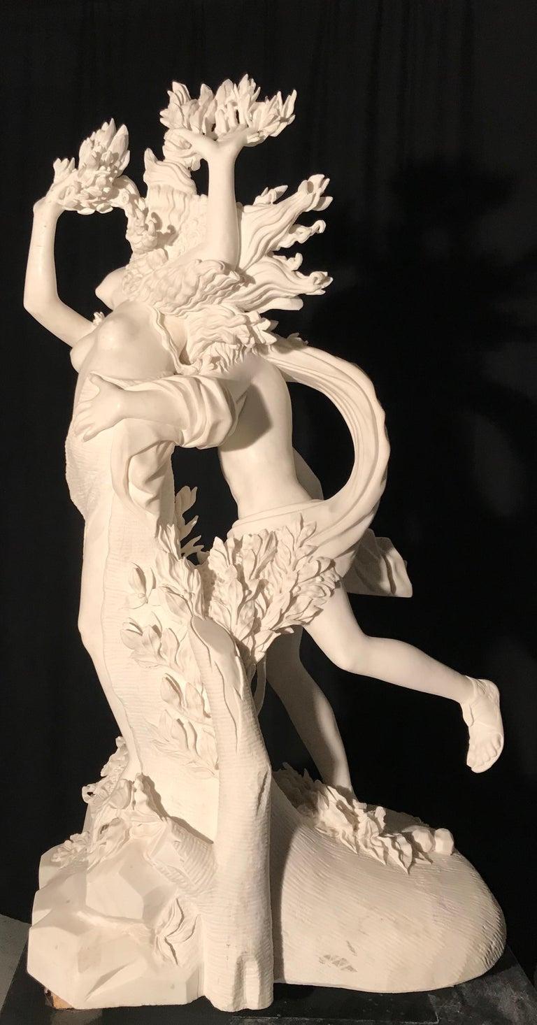 Italian White Marble Sculpture of Apollo and Dafne after Gian Lorenzo Bernini For Sale 3