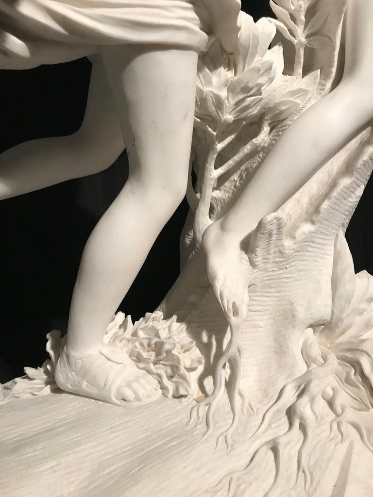 Italian White Marble Sculpture of Apollo and Dafne after Gian Lorenzo Bernini For Sale 5