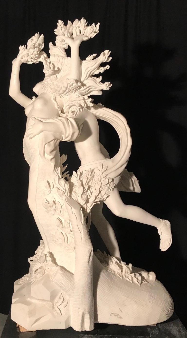 Italian White Marble Sculpture of Apollo and Dafne after Gian Lorenzo Bernini For Sale 1