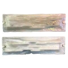 Italian White Murano Glass Applique by Toni Zuccheri, 1950s