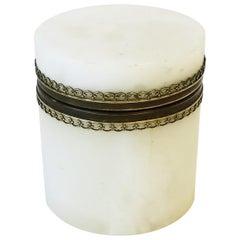 White Onyx Marble Box, Italy 20th c