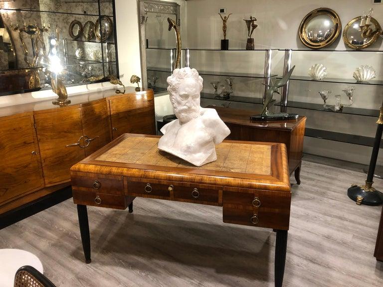 Italian White Plaster Gypsum Bust Academic Representation of Crepuscolo For Sale 2