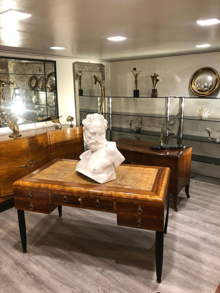 Italian White Plaster Gypsum Bust Academic Representation of Crepuscolo For Sale 3
