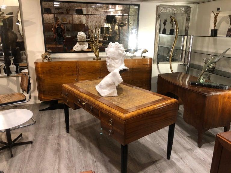 Italian White Plaster Gypsum Bust Academic Representation of Crepuscolo For Sale 4