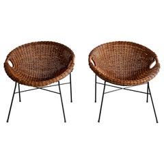 Italian Wicker Bucket Chairs