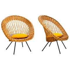 Italian Wicker Chairs