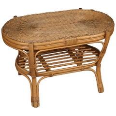 Italian Wicker Coffee Table, 20th Century