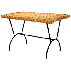 Italian Wicker Coffee Table