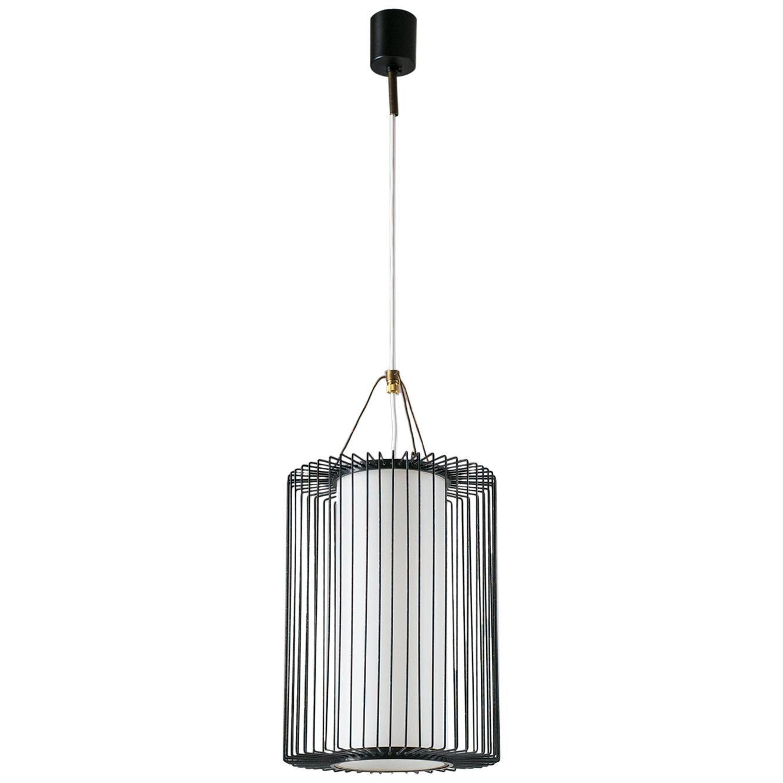 Italian Wire Pendant, 1950s, Stilnovo (Attr.)