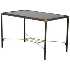Italian Wood and Steel Coffee Table