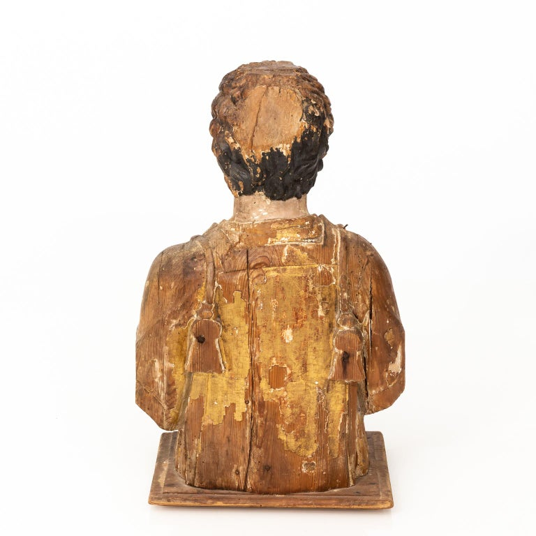 Italian Wood Bust For Sale 5