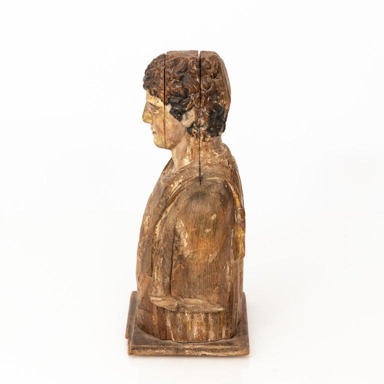 Italian Wood Bust For Sale 6