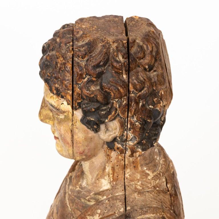 Italian Wood Bust For Sale 7