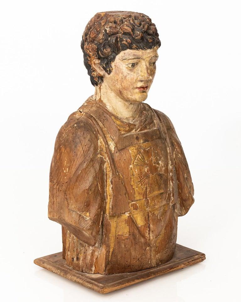 Italian Wood Bust For Sale 1