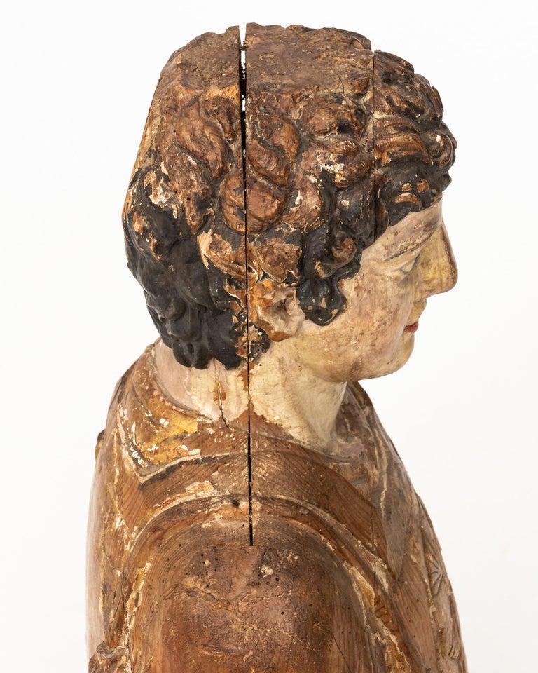 Italian Wood Bust For Sale 2