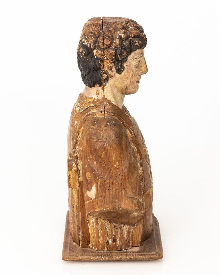 Italian Wood Bust For Sale 3