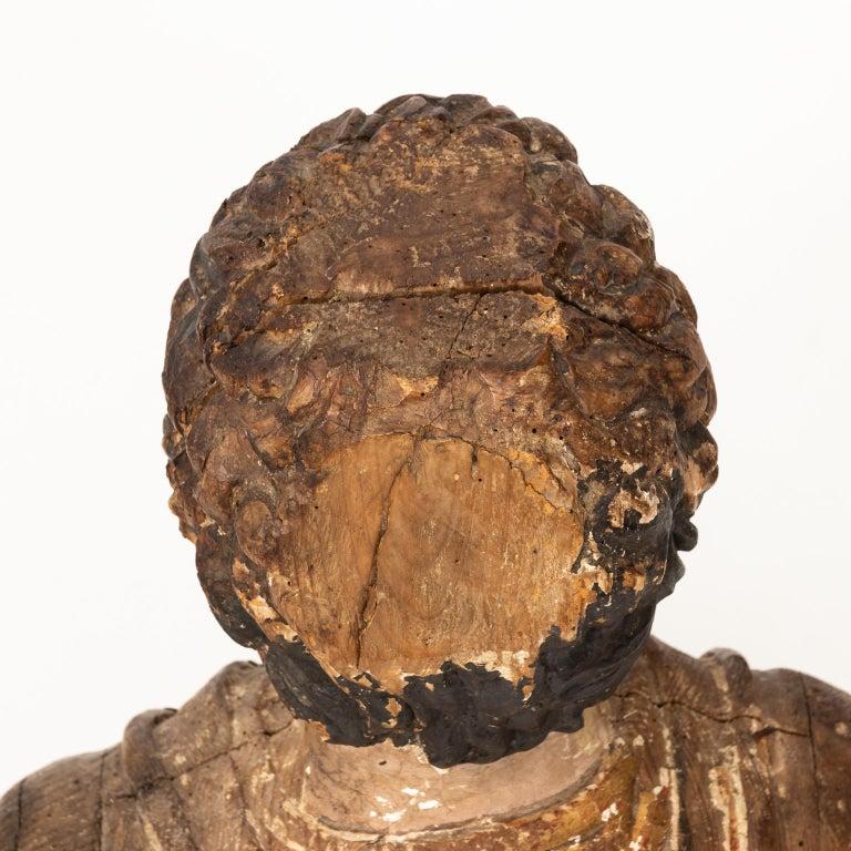 Italian Wood Bust For Sale 4