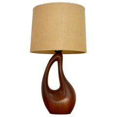Italian Wood Table Lamp