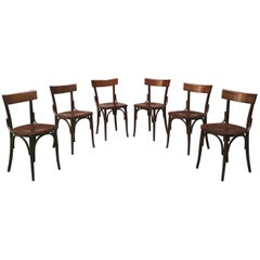 "Italian Wood Tavern Chairs ""Vecchia Milano"", 1960s"