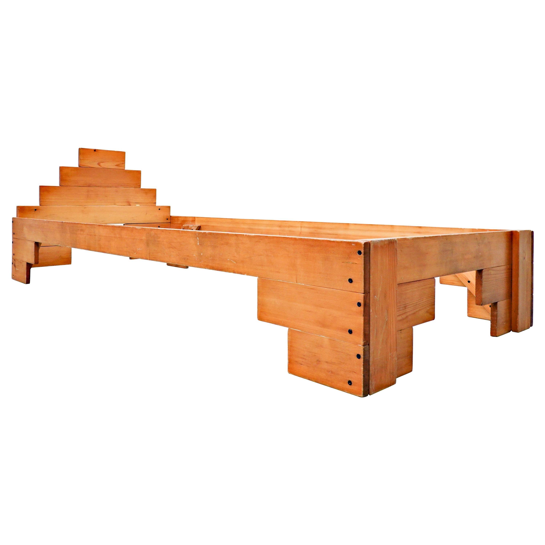 Italian Wooden Bed by Enzo Mari, 1970s