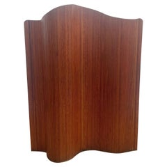 Italian Wooden Mid Century Modern Folding Screen