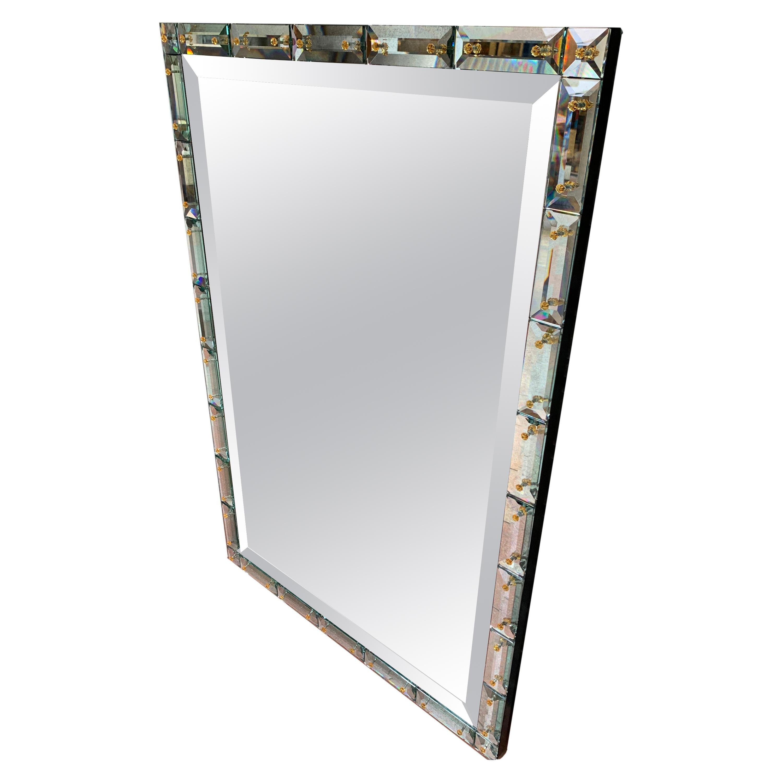 Italian work, Mirror in Murano Glass, circa 2000