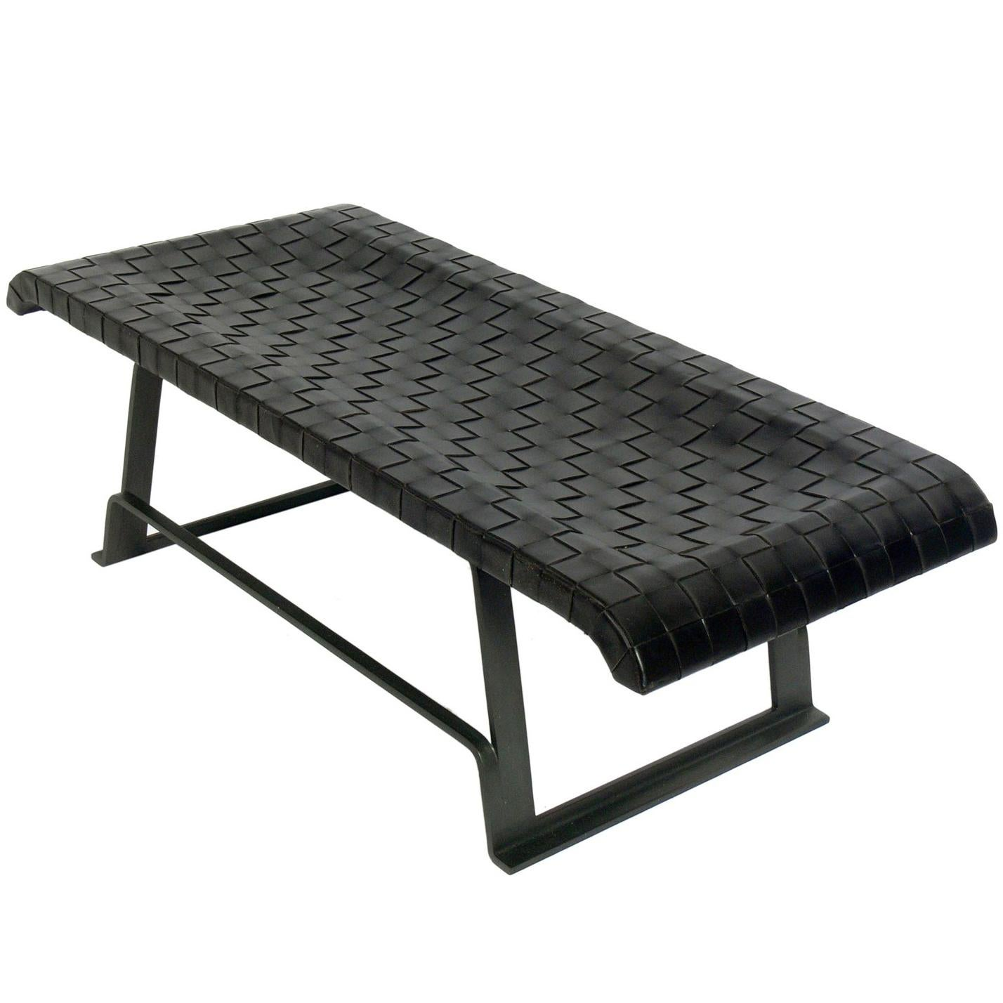 Fabulous Woven Leather Bench 29 For Sale On 1Stdibs Inzonedesignstudio Interior Chair Design Inzonedesignstudiocom