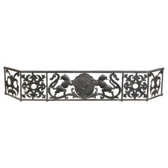 Italian Wrought Iron Fire Fender