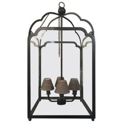 Italian Wrought Iron Giant Lantern