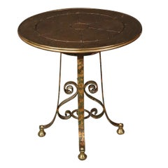 Italian Wrought Iron Gilt Center Table