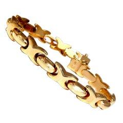 Italian X Link Gold Bracelet 14 Karat Gold