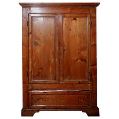 Italian XVIII Tuscan Buffet with Two Doors, Two Shelves and One Large Drawer