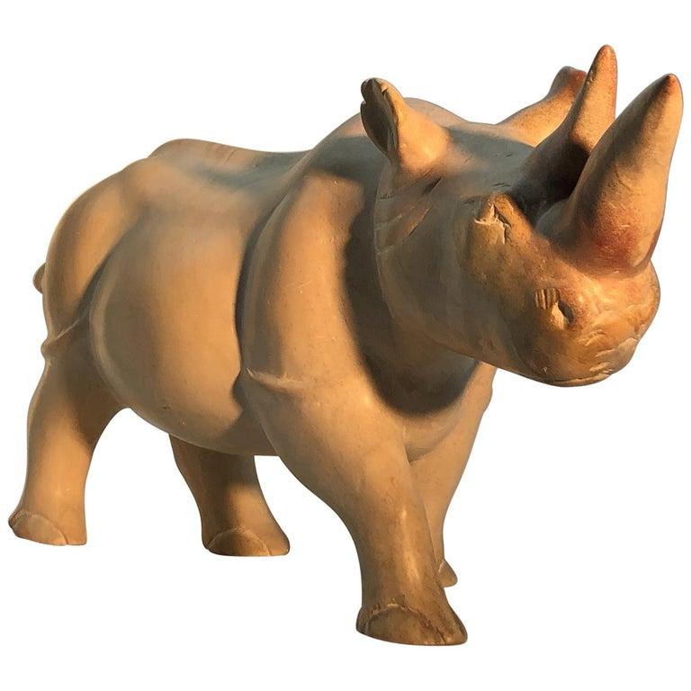 Italian Rhinoceros Sculpture, 20th Century