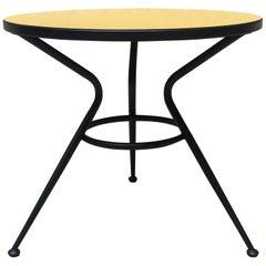 Italian Yellow Laminate and Metal Rod Coffee Table, 1960s