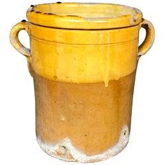 Italian Yellow Glazed Terracotta Planter