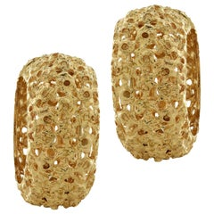 Italian Yellow Gold Hoop Earrings