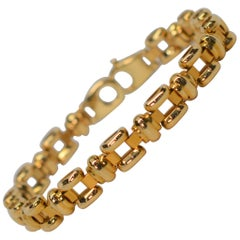Italian Yellow Gold Link Bracelet