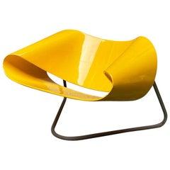 Italian Yellow Nastro CL9 Armchair by Cesare Leonardi e Franca Stagi, 1960